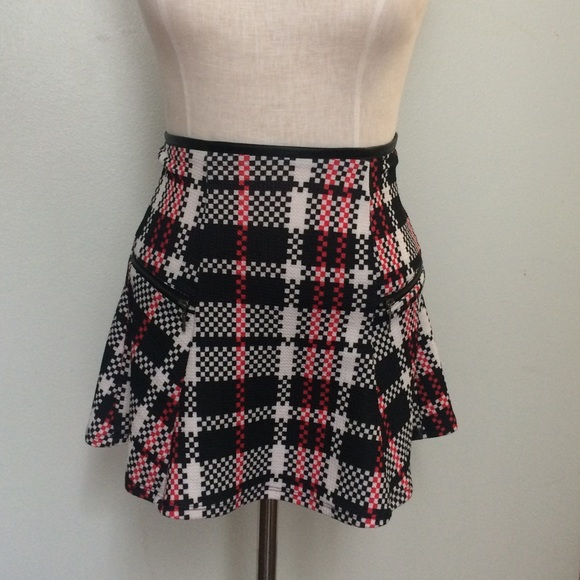 8dc9dcfe49 Dolls Kill Dresses & Skirts - Red black white checkered side zipper skater  skirt